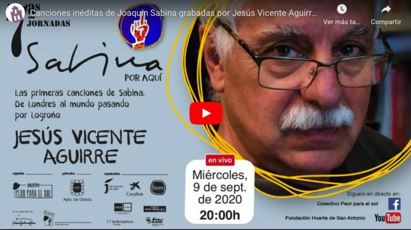 Vicente Aguirre y las canciones inéditas de Joaquín Sabina